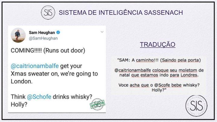 Sam Heughan on Twitter
