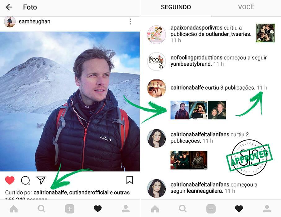 Sam Heughan Instagram