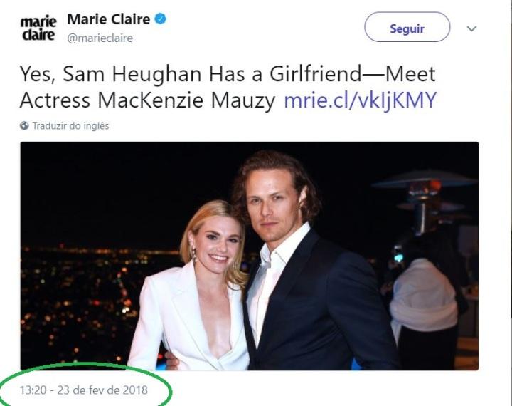Sam heughan mauzy wedding