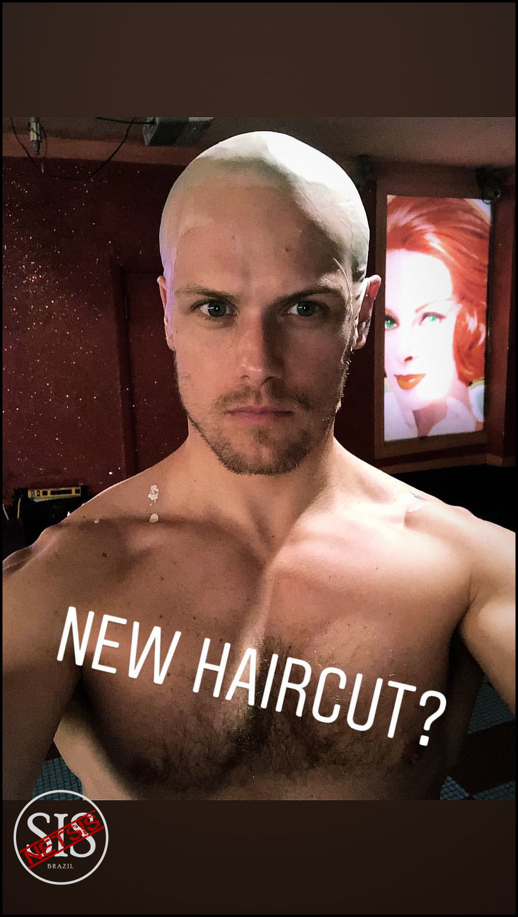 Sam Heughan via Instagram Stories - em 09.08.2018